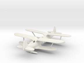 1/200 Polikarpov I-153 x2 in White Strong & Flexible