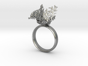 Celtic Bird  Ring in Raw Silver