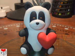 Panda Loves You (8cm) in Full Color Sandstone