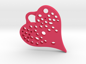 Heart Full Of Holes - Pendant in Pink Strong & Flexible Polished
