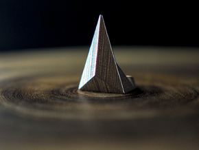 Golden Ratio Triangle Ring: Sz7 in Stainless Steel