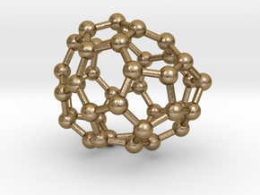 0116 Fullerene C40-10 c1 in Polished Gold Steel