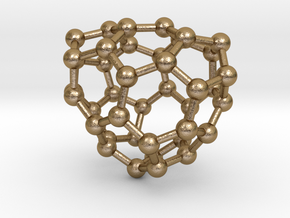 0117 Fullerene C40-11 c2 in Polished Gold Steel