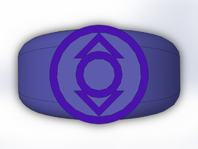 Indigo Lantern Ring in Full Color Sandstone