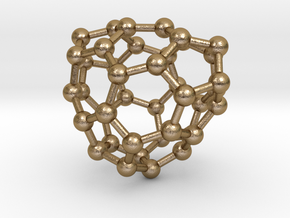 0122 Fullerene C40-16 c2 in Polished Gold Steel