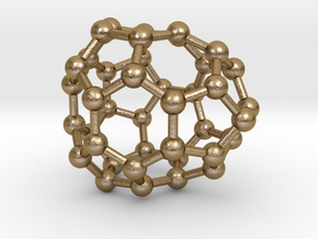 0130 Fullerene C40-24 cs in Polished Gold Steel