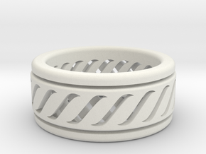 Dual Layered Fidget/ Spinner Ring in White Strong & Flexible