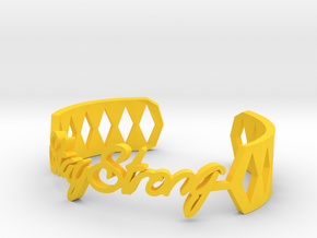 Bracelet:Stay Strong in Yellow Strong & Flexible Polished