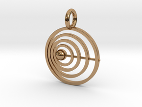 P103 Satellite Pendant in Polished Brass