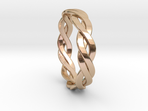 Celtic Love Band in 14k Rose Gold Plated
