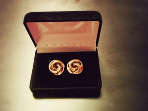 Mobius Cufflinks in Polished Bronze