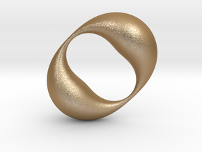 0054 Antisymmetric Torus (p=2.0) #003 in Matte Gold Steel