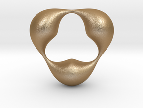 0056 Antisymmetric Torus (p=3.0) #005 in Matte Gold Steel
