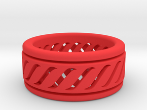 Spinner Ring in Red Strong & Flexible Polished