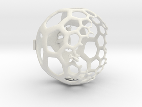 Honeycomb Light Projection Sphere in White Strong & Flexible