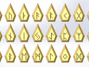 Gem Rune Set in Sandstone