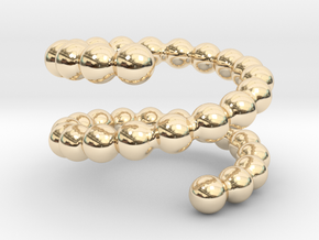 Spiral ring 19 in 14k Gold Plated