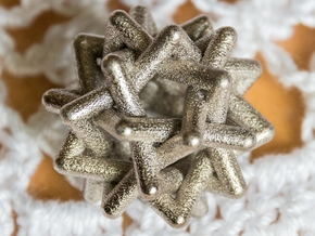 Six Tangled Stars in Polished Nickel Steel