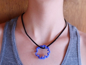 doodle pendant  in Blue Strong & Flexible Polished