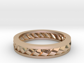GBW2 Lds Wedding Band in 14k Rose Gold Plated