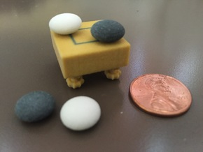 Tiny 2x2 Goban with Legs in Full Color Sandstone
