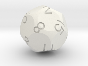 D16 Tetra Sphere Dice in White Strong & Flexible