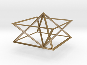 Giza Pyramid Merkaba Vehicle in Polished Gold Steel