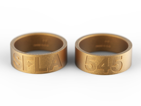 SFLA / 545 (size 7.5) in Polished Gold Steel