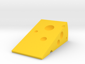 Cheese Door Stopper in Yellow Strong & Flexible Polished