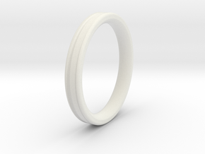 Saurier Ring in White Strong & Flexible