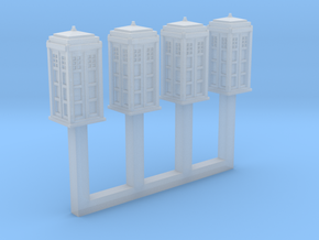 1/450 Police Call Box x4 (Tardis) in Frosted Ultra Detail