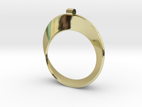 Moebius Strip in 18k Gold Plated