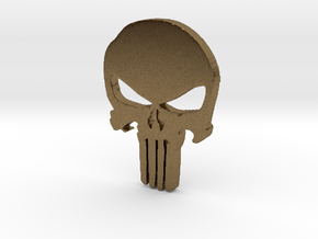 Punisher Pendant 25mm  in Raw Bronze