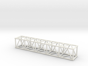"10' 20.5""sq Box Truss 1:48 in White Strong & Flexible"
