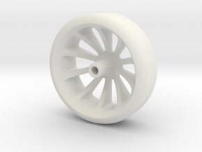 Sidewinder Pinewood Wheel in White Strong & Flexible