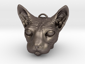 Sphinx Cat KeyChain in Stainless Steel
