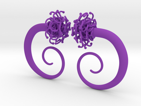 Plugs  /gauge The Gorgon / size 2G (6.5 mm) in Purple Strong & Flexible Polished