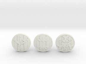 Wooden Shield Pack in White Strong & Flexible