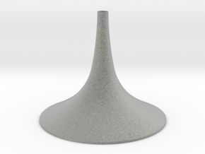 Simple Large Conical Vase in Metallic Plastic