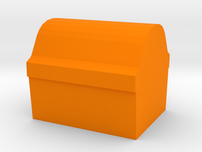 Game Piece, Treasure Chest Token in Orange Strong & Flexible Polished