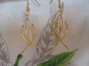 Composition 1 Earrings in 18k Gold Plated