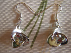 Coil 3 2 V2 Earrings in Rhodium Plated