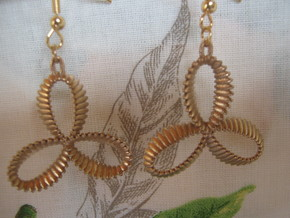 Conchoid Variation V1 Earrings in Raw Bronze