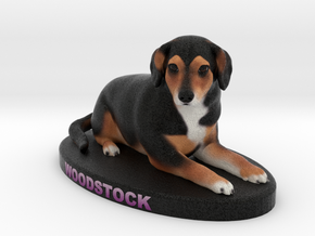 Custom Dog Figurine - Woodstock in Full Color Sandstone