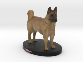 Custom Dog Figurine - Keno in Full Color Sandstone