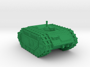 28mm David self-propelled mine in Green Strong & Flexible Polished