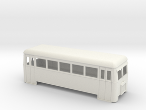 009 Short bogie railbus  in White Strong & Flexible