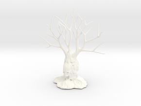 Totem Tree 004 in White Strong & Flexible Polished