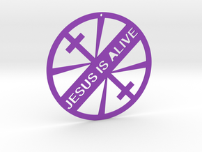 JESUS IS ALIVE in Purple Strong & Flexible Polished