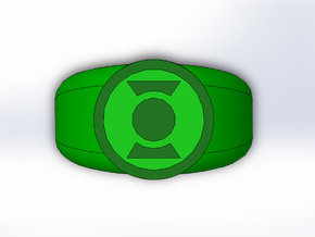Earth 2 Green Lantern Ring in Full Color Sandstone